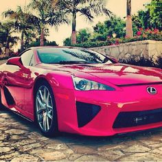 Theres a new girl in my life! Shes called Lexus and she's sexy as hell! #LFA For Breast Cancer Awareness Month: Carhoots Pink Supercar Special!