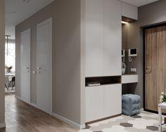 Hallway Storage Modern Interior Design 56 Best Ideas - Image 16 of 23 Flur Design, Hall Design, Hallway Furniture, Entryway Decor, Home Interior, Modern Interior Design, Shoe Cabinet Design, Condominium Interior, Hallway Storage