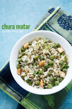 Chura Matar Recipe - UP style recipe of Chura Matar or Matar Poha. Its a popular evening snack which is made during winters.