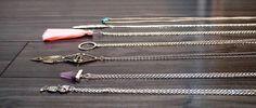 Voici ce que je viens d'ajouter dans ma boutique #etsy: Long collier argent inoxydable / long necklace silver stainless / free delivery in Canada #bijoux #bracelet #creationbyanneca