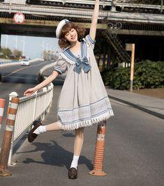 Japan Fashion, Kawaii Fashion, Lolita Fashion, Curvy Fashion, Fall Fashion, Kawaii Dress, Kawaii Clothes, Beautiful Outfits, Cool Outfits
