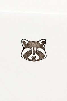 Dudes in Jackets the Raccoon  Hand carved stamp by WoodlandTale on Etsy