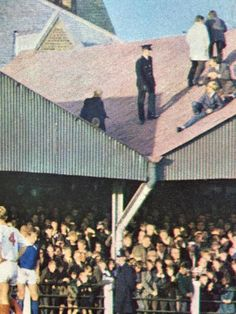 Fans take to the roof at Prenton Park to watch Tranmere Rovers play. Tranmere Rovers, Football Fans, Monday Morning, Cathedrals, Soccer, Around The Worlds, Play, Watch, Sports