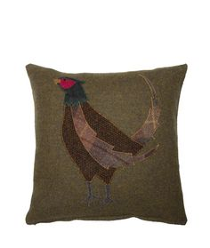 Love thisTweed pheasant cushion from Glenalmond.com