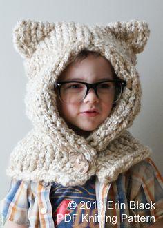 Ravelry: Chunky Kitty Hood (Hat011) pattern by Erin Black