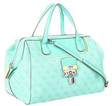 Guess Hewitt Box Satchel Turquoise Multi Yes I Will Have This Also