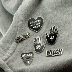 Ouija Planchette Enamel Pin with clutch back // Ouiji by Punkypins