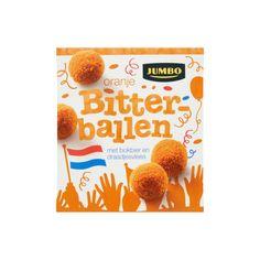 Jumbo Oranje Bitterballen 12 x 25g - Borrelhapjes (Bevat tarwe, soja en lactose)