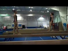 Back Tumbling Beam Complex by Mary Lee Tracy Gymnastics Skills, Gymnastics Coaching, Gymnastics Workout, Gymnastics Conditioning, Mary Lee, Female Gymnast, Gymnasts, Workout Plans, Drills