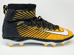 outlet store sale 3aa8b 20c57 Nike Force Lunarbeast Elite TD Football Cleats Yellow Black Navy Size 14 New