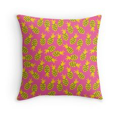 Pineapples colorful seamless pattern.
