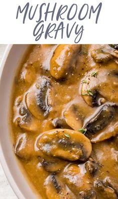 Vegetable Gravy Recipes, Mushroom Recipes, Beef Recipes, Healthy Recipes, Game Recipes, Cooking Recipes, Hamburger Recipes, What's Cooking, Cooking Ideas