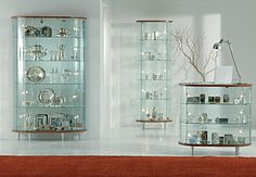 Glass display cabinet, Showcases with wooden structure, Glass showcase Dining room Top Line 3