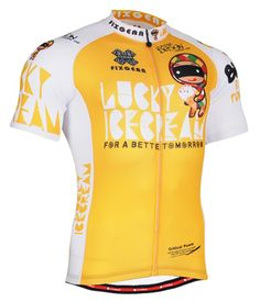 Cycling jersey printed bike wear yellow shirt for men S~3XL 1b6ab8b77