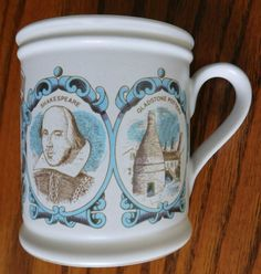 Denby Heart of England mug William Shakespeare Goodrich Castle Ironbridge