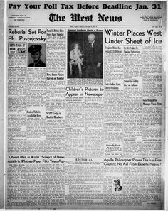 Weekly newspaper from West, Texas that includes local, state and national news along with advertising.