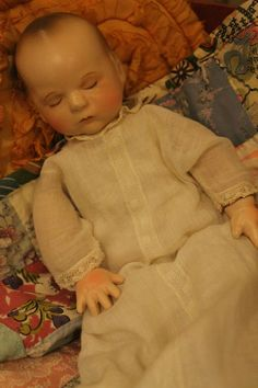 "12"" Effanbee Babyette, composition and cloth 1945 antique baby doll."