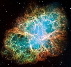 Hubble at 25: the best images from the space telescope; a composite image of the Crab Nebula - a six-light-year-wide expanding image of a star's supernova explosion