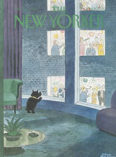 The New Yorker - Monday, December 30, 1985 - Issue # 3176 - Vol. 61 - N° 45 - Cover by : Charles Addams The New Yorker, New Yorker Covers, Alone In A Crowd, Charles Addams, Illustration Vector, Magazine Illustration, Magazine Art, Magazine Covers, Photocollage