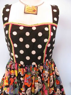 Dia de Los Muertos Dress by DetroitDollface on Etsy