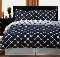 b8bf04075e2e 3pc Modern Navy Blue White Bedding Duvet Cover Set - Modern style in  classic Navy White