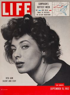 "Life Magazine cover, ""Rita Gam, silent and sexy"", September 15, 1952"