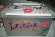 Customize a storage tub with Painters Paint Markers. @Webbwise will show you how. #ExpressYourself