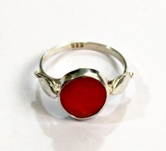 925 Solid Sterling Silver Natural Carnelian by gemsnjewelryworld