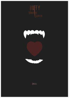 Buffy the Vampire Slayer - Angel poster - Rafa Garcia de la Mata Be My Hero, Buffy Summers, Joss Whedon, Buffy The Vampire Slayer, The Vamps, Nerdy, Pop Culture, Geek Stuff, Fandoms