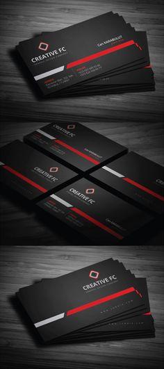 Creative FC Dark Business Card Design