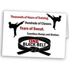 ONE Black Belt 1 KARATE T-SHIRTS & APPAREL Card