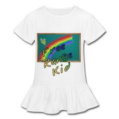 Girl's Ruffle Homeschool T-Shirt - Free Range Homeschooling