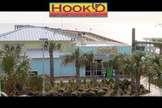 Hook'd Pier Bar Panama City Beach Florida...great fish tacos and homemade chips...yum yum