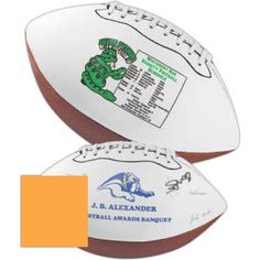 Mini synthetic leather signature football from www.schoolspiritstore.com