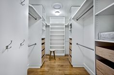 Custom walk-in closet organizer