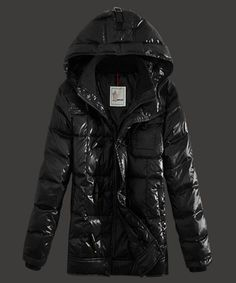 Top Sell Moncler Virgile Mens Down Jackets Hooded Black [2781829] - £211.83 :