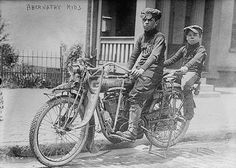 In 1913 these Boys - The Abernathy Brothers - Louis [Bud] age 13, and Temple age 9, rode cross country from Oklahoma to New York City ALONE on an Indian Motorcycle.