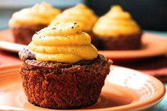 Wait a minute, these aren't dessert! They're vegan Meatloaf Cupcakes with Butternut Squash Purée on top. And damn, do they look good.