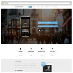 LT App Showcase Onepage WordPress by LTheme on @creativemarket