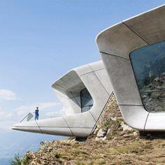 [건축] 신비로운 건축의 귀재, 자하 하디드 산악박물관 Messner Mountain Museum Architects : Zaha ...