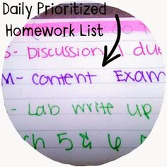 Organized Charm: How to Make a Daily Prioritized Study List