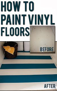 DIY Why Spend More: Painting laminate floors
