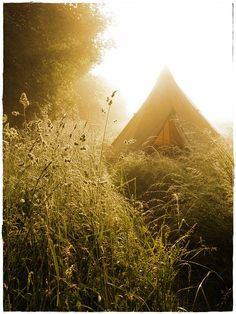 Villecey sur Mad, our Tipi in morning light, via Flickr.
