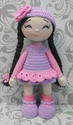 ♥ ♥ HandiHats ♥ ♥ by Katushka Morozova. Knitted Dolls, Crochet Dolls, Crochet Baby, Knit Crochet, Amigurumi Patterns, Amigurumi Doll, Doll Patterns, Crochet Doll Pattern, Crochet Patterns