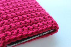 Crochet Tablet Cover / Crochet Tablet Case / Crochet Tablet Sleeve / Chunky Crochet / Radiant Orchid / 7 inch on Etsy, $30.00 CAD