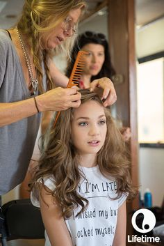 Beautiful behind-the-scenes shot of Maddie Zeigler from Dance Moms getting camera ready!