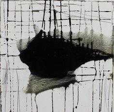 Scar Tissue, Frank Caracciolo (2013) oil on wood 12in × 12in × 1in — 1lb