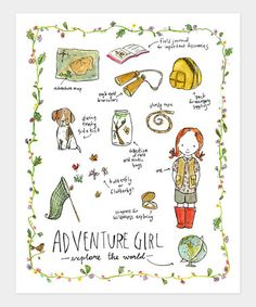 Adventure Girl Print by trafalgars square