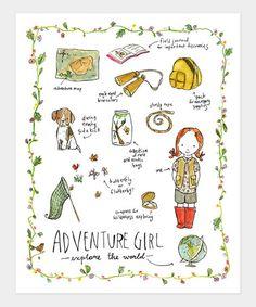 Adventure Girl Print by trafalgars square