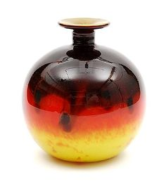 Botterweg Auctions Amsterdam Multi-colour glass vase with wide toprim design Charles Schneider executed by Schneider Epinay-sur-Seine / France Vases Decor, Art Decor, Wood Vase, Glass Partition, Art Deco Glass, Call Art, Glass Paperweights, French Art, Colored Glass